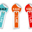 Stock Vector: Sale sticker style sign with attached labels