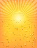 Sun Sunburst Pattern with water drops — Stock Vector