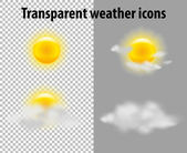 Transparent weather icons — Stock Vector