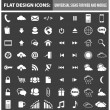 Web and mobile flat design icons, elements, buttons — Stock Vector