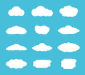 Flat design cloudscapes collection — Stock Vector