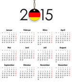 German Solid calendar for 2015 with flag like tag — Stock Vector