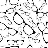 Seamless glasses pattern, eyeglasses — Vettoriale Stock