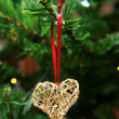 Stock Photo: Golden heart ornament