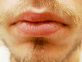 Dry male lips — Stock Photo