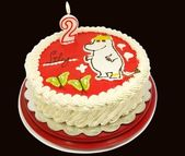 The snork maiden moomin cake — Stock Photo
