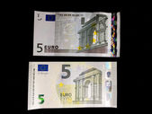 Five Euro bills — Zdjęcie stockowe