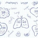 Monsters inside — Stock Vector