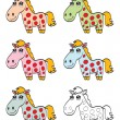 Cute cartoon horse — Stock Vector