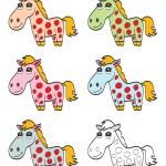 Cute cartoon horse — Stock Vector