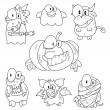 Collection of halloween creatures — Stock Vector #27197135
