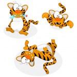 Cartoon tigers — Stock Vector #3098166