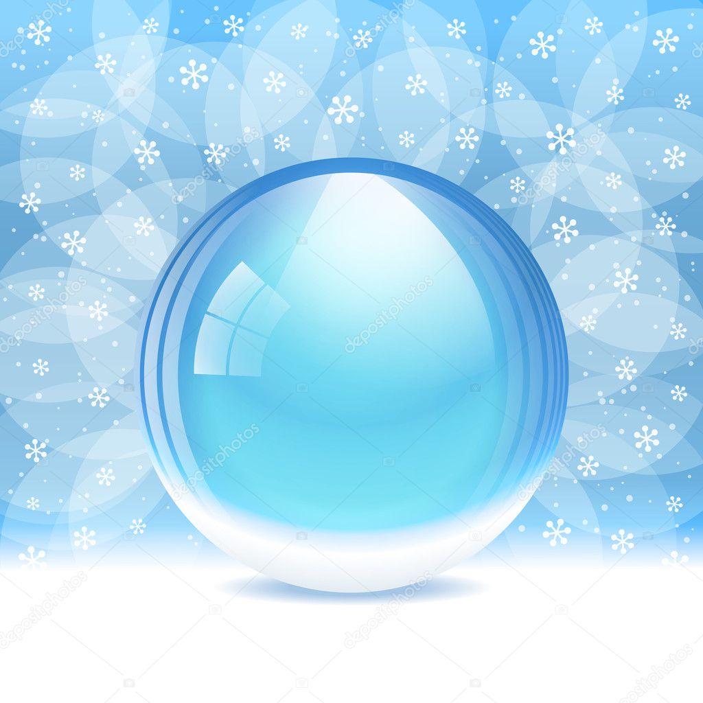 boule neige transparent vide vector image vectorielle bastetamon 32254255. Black Bedroom Furniture Sets. Home Design Ideas
