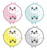 Cute pigs yin yang — Stock Vector
