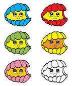 Cute clam — Stock Vector
