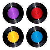 Vinyl records set — Stok Vektör