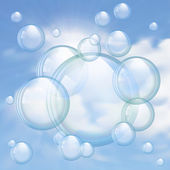 Sky and bubbles background — Stock Vector