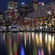 Sydney's Darling Harbor at night — Stock Photo #41377879