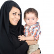 Arab Mother with her child — Stock Photo #13214414