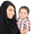 Arab Mother with her child — Stock Photo