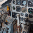 Jet plane cockpit — Stock Photo