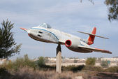 Gloster Meteor monument — Stock Photo