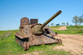 SU-100 artillery unit — Stock Photo