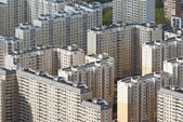 Panel houses in Moscow — Stock Photo