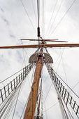 Vela del mástil de la nave — Foto de Stock