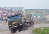 KAMAZ-43501 airborne forces truck — Stock Photo