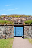 Rear gate in Suomenlinna fortress — Foto Stock