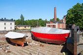 Boats in the drydock — Foto de Stock