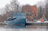 Old minesweeper in Baltiysk — Stock Photo