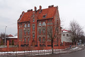 Old barracks in Baltiysk — Stock Photo