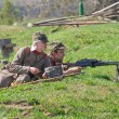 Machinegunners hold position — Stockfoto