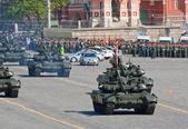 T-90 battle tanks — Stock Photo