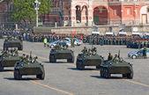 Column of BTR-80 APCs — Stock Photo