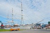 Suomen joutsen nave amañadas completo — Foto de Stock
