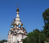 Church of the Kazan Icon of the Mother of God the city of Dolgoprudny — Stock Photo