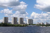 Cityscape on the background of the Moscow Canal — Stock Photo