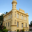Historic court house and jail in the city of ilhabela in brazil — Stock Photo #11736454