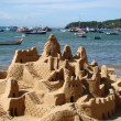 Sand castle on the beach — Stock Photo #13734607