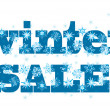 Stock Vector: Winter sale symbol