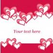Valentines day postcard — Stockvectorbeeld