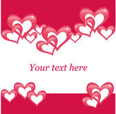 Valentines day postcard — Vector de stock