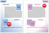 Template pages for publications (layout, with two color pages) — Stock Vector