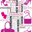 Fashion words — Stock Vector