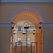 Stock Photo: Steel door in arch