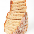 Bread slices vertically — Stock Photo