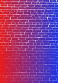 Colorful background of a brick wall — Stockfoto